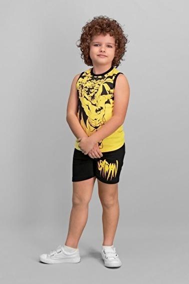 Batman Lisanslı Erkek Çocuk Şort Takım Sarı